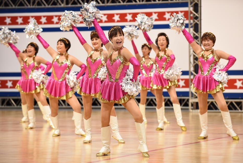 Japan Pom Pom cheerleaders